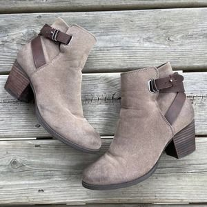 Call It Spring Brown Ankle Buckle Heeled Booties